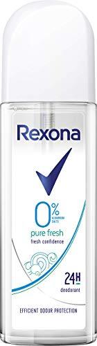 Rexona Deospray(Zerstäuber) für langanhaltende Frische Pure Fresh ohne Aluminiumsalze (6 x 75 ml)