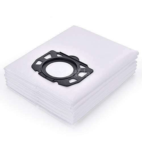 Smartide 6-Pack Karcher Polaire Sacs filtrants Remplacement pour WD4, WD5, WD5 / P Aspirateur Sacs filtrants anti-poussière pour Karcher Cleaner MV4 / MK5 / MV6 Aspirateur Karcher Aspirateur sec et humide
