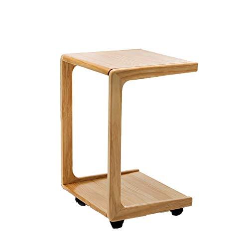 LSX - salontafel, kleine salontafel, bijzettafel, afneembare kleine salontafel met wieltjes, eenvoudige mini-sofa, hoektafel, bijzettafel, massief hout, kleine tafel, slaapkamer, nachtkastje, bijzettafel