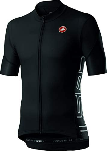 Castelli Cycling Entrata V Jersey for Road and Gravel Biking l Cycling Light Black Large product image