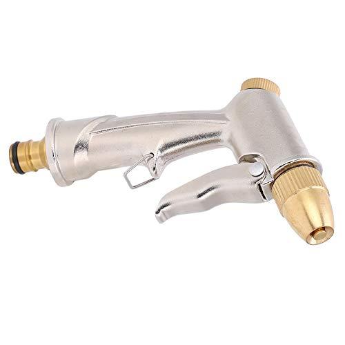Pistola de agua de lavado de automóviles ordinarias, pistolas de agua de plata Jet de salida de agua alta presión con aleación de latón y aluminio