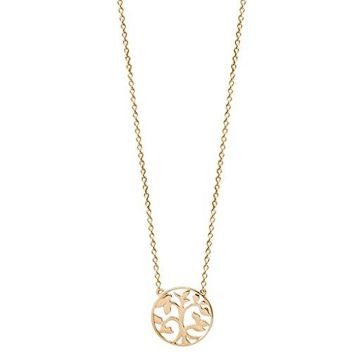 XENOX XS2896G Damen Collier Lebensbaum Symbolic Power Sterling-Silber 925 Gold 45 cm