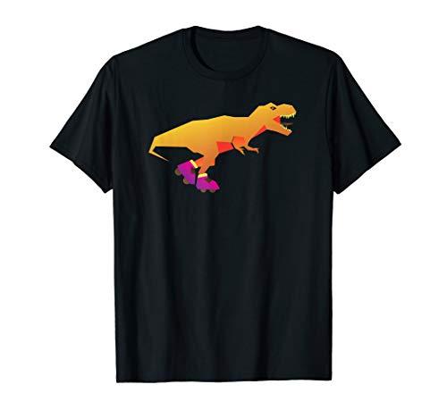 Dinosaur Roller-Skates Inline-Skates Funny T-Rex T-Shirt