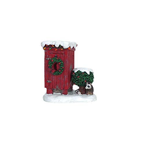 Lemax 64481 - Christmas Outhouse - Geschmücktes Plumpsklo - Zubehör Weihnachtsdorf