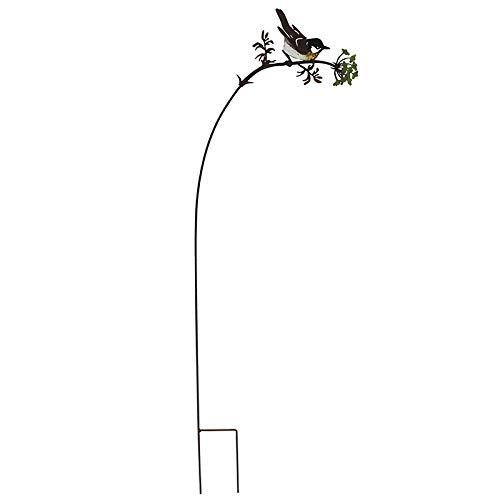 Tuteur Silhouette Oiseau sur Branche Fleurie h:93cm