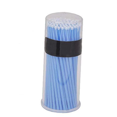 1box Replacemalet Micro Brosses Applicateurs À Usage Unique Brosses Cils Extension Écouvillons Lashes Portable Lint Brosses Bleu