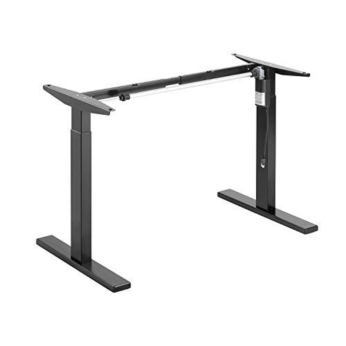 ApeJoy® elektrisch stufenlos höhenverstellbarer Schreibtisch, höhenverstellbares Tischgestell, Standing Desk mit Memory-Funkt, einstellbaren Kollisionsschutz und Soft-Start/Stop (Schwarz)