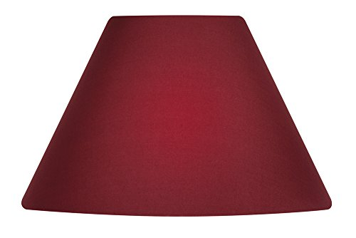 Oaks Lightning - Paralume in cotone, forma conica, 25 cm rosso vivo