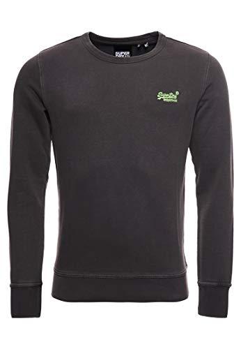Superdry OL Pastelline Crew Sweat-Shirt, Noir (Vintage Black 06a), XL Homme