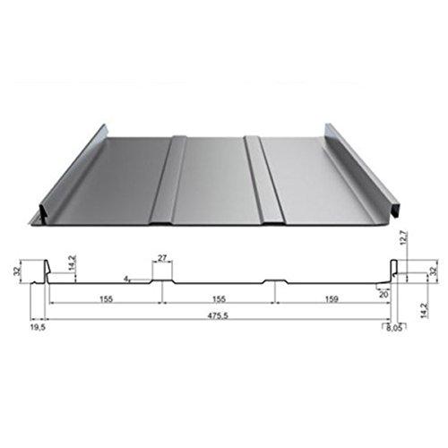 Olibaustoffe Dachpaneele mit Stehfalz DP-32, Trapezbech, Profilbleche, Selbsverschlußpaneel 1 m²