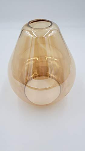 Ersatzschirm E27 Lampenschirm amberfarbig Ersatzglas goldfarbig Retro Vintage Lampe Pendellampe Lampenglas Pendelleuchte Hängeleuchte