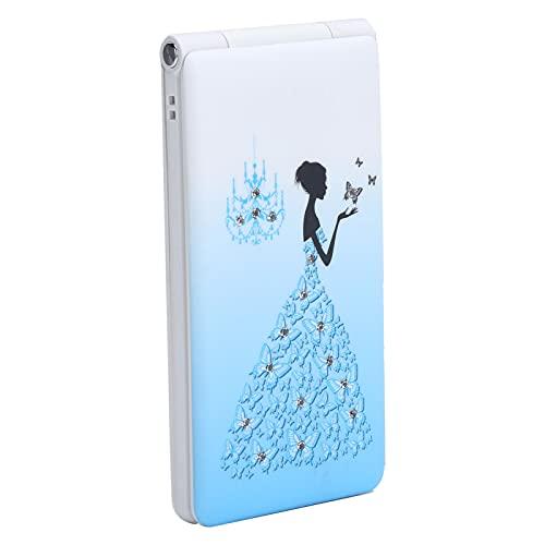 Flip Unlocked Phone, 2.4 inch Screen Flip Phone Dual SIM Card, 32MB+32MB, 1800mAh, Large Volume, Ultra Slim Flip Cellphone for Elderly and Kids(Blue)
