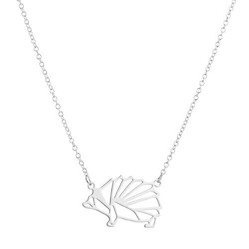 GYXYZB Nuevo Regalo De La Joyería del Animal Salvaje del Collar Geométrico del Erizo De Origami