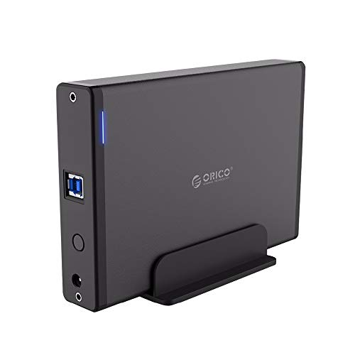 ORICO 3.5 External Hard Drive Enclosure USB3.0 to SATA Aluminum Hard Drive Dock Case for 2.5/3.5inch HDD/SSD Hard Drive Up to 18TB with 12V Power Adapter-7688U3