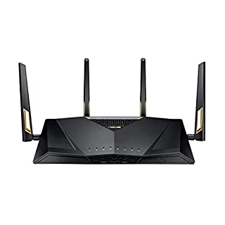 ASUS AX6000 WiFi 6 Gaming Router (RT-AX88U) - Dual Band Gigabit Wireless Router, 8 GB Ports, Gaming & Streaming, AiMesh Compatible, Included Lifetime Internet Security, Adaptive QoS, MU-MIMO (B07HM6KJN8)   Amazon price tracker / tracking, Amazon price history charts, Amazon price watches, Amazon price drop alerts