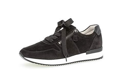 Gabor Damen Halbschuhe, Frauen Sneaker,lose Einlage,Best Fitting,schnürschuhe,Halbschuhe,straßenschuhe,Freizeitschuhe,Lady,schwarz,40 EU / 6.5 UK