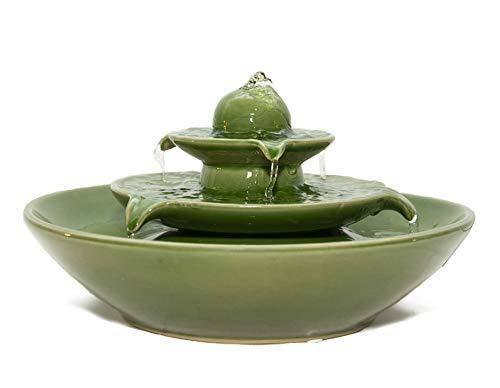 seliger Keramik-brunnen Pisa grün Katzen-brunnen