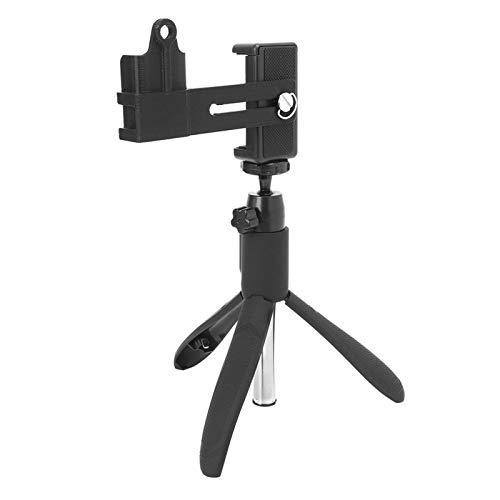 DAUERHAFT Palo Selfie Fijo para cámara con Varilla de tracción de aleación de Aluminio con Orificio de Rosca de 1/4 de Pulgada Palillo para Selfie con Clip para teléfono móvil para teléfono móvil o