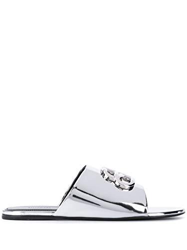 Balenciaga Luxury Fashion Damen 614968W2AD18081 Silber Polyurethan Sandalen   Jahreszeit Permanent