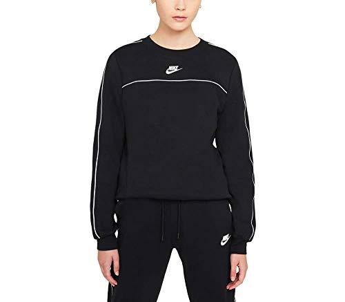 Nike CZ8336 W NSW MLNM ESSNTL FLC Crew Sweatshirt Women's Black/White S