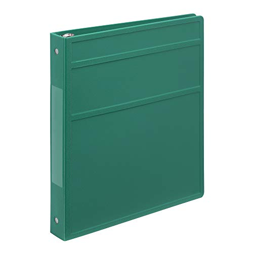 Carstens 1- Inch Heavy Duty 3-Ring Binder - Side Opening, Teal