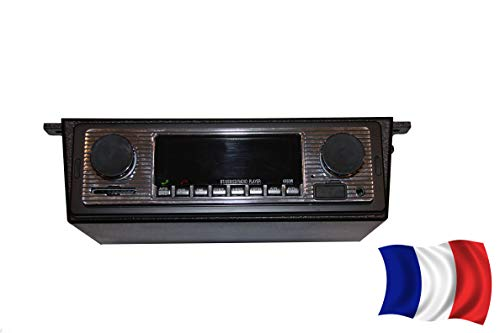 SODIAL Autoradio Bluetooth MP3 Player Vintage Stereo USB Stereo AUX Classic Car Audio