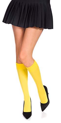 Romartex 60 DEN Mikrofaser Kniestrümpfe in 29 Trendy Farben, gelb