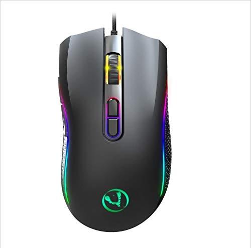 Befriedigen Sie Ihr komfortables und gesundes Lebe A869RGB 7200 DPI Sechsgang-Adjustable 7-Tasten Macro-Definition Programmierbare bunte Licht-emittierende verdrahtete Spiel-optische Maus, Kabellänge: