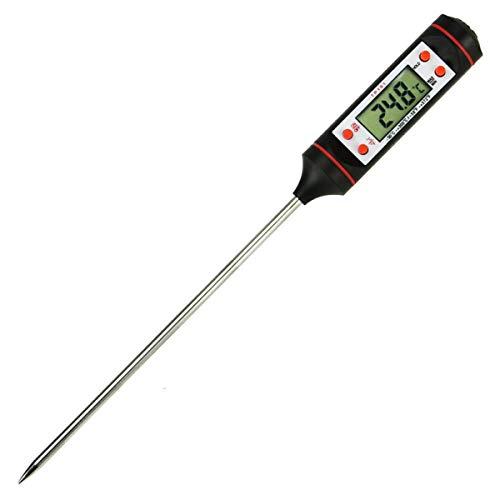 Vleesthermometer, Keukenkoken Digitale Multifunctionele Thermometer Met Lange Roestvrijstalen Sonde en Instant Read Voor Voedsel, Vleesgrill, BBQ, Melk en Water