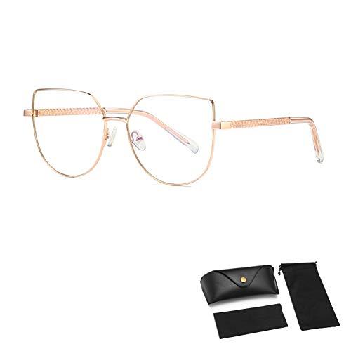 HUALUWANG Gafas Anti-Azules, Gafas de Ordenador, Reducen la Fatiga Ocular, Gafas de Juego de Lectura Nerd Unisex (Damas/Hombres) con Bisagras de Resorte