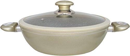 Callaway Cacerola Baja de Aluminio Forjado, mármol, 28 cm, Champagne