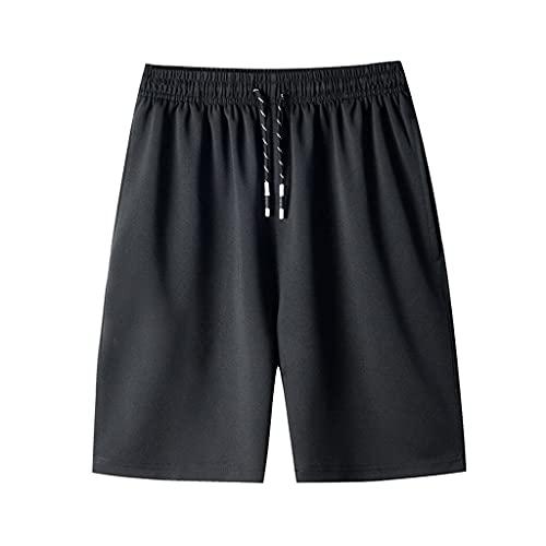 YUZHUKUNGMZNSDK pantalones Cortos Hombre, Pantalones cortos de baloncesto transpirable suave masculino verano ocasional delgado de secado rápido pantalones de playa casual de ciclismo al aire libre de