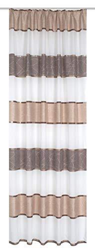 Home Fashion Fertigschal, Stoff, Cappuccino, 245 cm x 140 cm