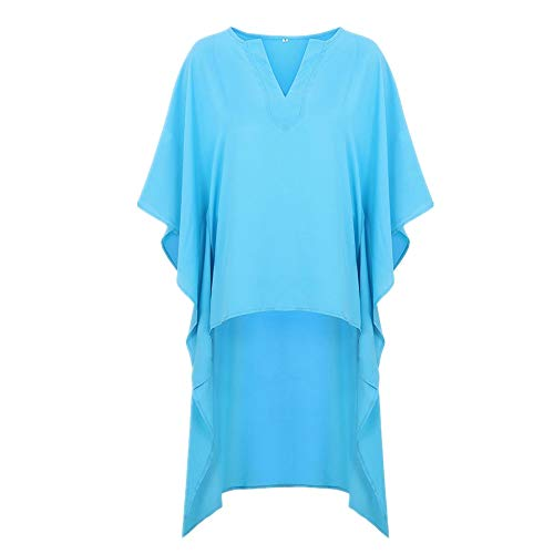 Frühling Sommer Neue Frauen Explosive V-Ausschnitt Kurzer und Langer Rücken Loose Chiffon Shirt