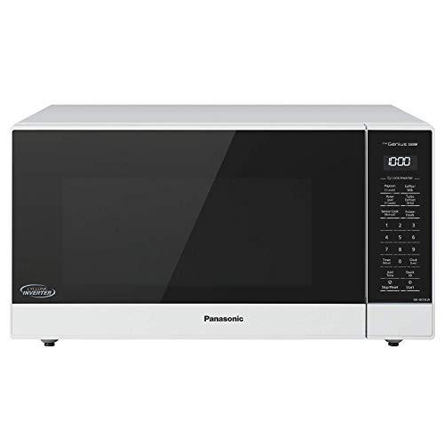 Panasonic NN-SN75LW Countertop Microwave oven with Cyclonic Wave Inverter, Genius Sensor, 1250W of Cooking Power, 1.6 cft, White (Renewed)