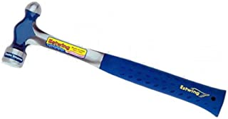 Estwing Ball Peen Hammer - 16 oz Metalworking Tool with Forged Steel Construction & Shock Reduction Grip - E3-16BP