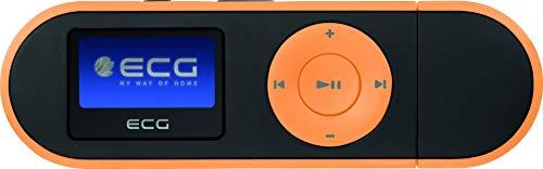 ECG PMP 20 4GB Black&Orange MP3-Player – MP3, WMA, WAV; Interner Speicher 4 GB; Diktiergerät; Kopfhörer-Eingang; USB 2.0; In-Ear-Kopfhörer Orange-schwarz