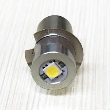 Nikou Bombilla de actualización LED de Alta Potencia - P13.5S Bombillas de Repuesto de 3W Bombilla de actualización para linternas MagLite (tamaño : Warm White 4~12V)