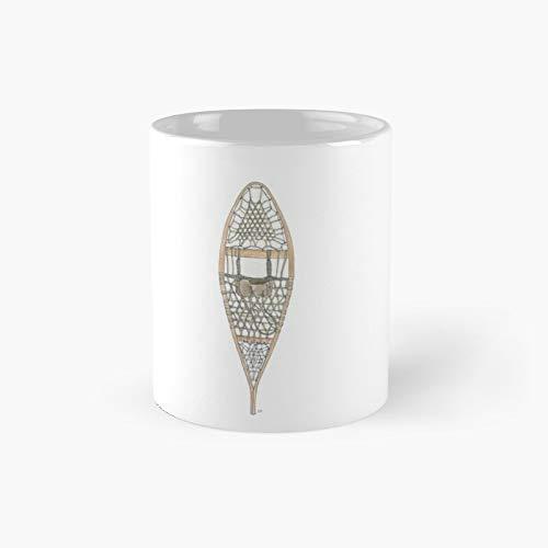Taza clásica con diseño de raquetas de nieve | El mejor regalo divertidas tazas de café de 325 ml
