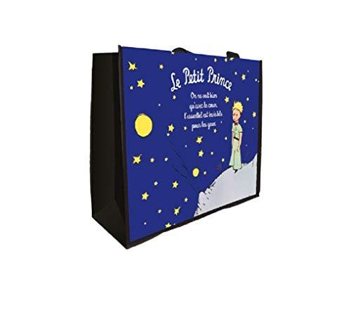 LE PETIT PRINCE 525514 Cabas Gm LPP Nuit Etoile, Polyvinyle, Bleu, 40 x 19 x 46 cm