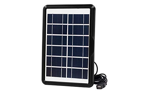 edi-tronic 5V max. 1000mA Solarlader Solarladegerät Solarpanel USB mobil Outdoor wasserdicht ideal für Camping Wandern Reisen Urlaub geeignet für Smartphone Tablet Powerbank