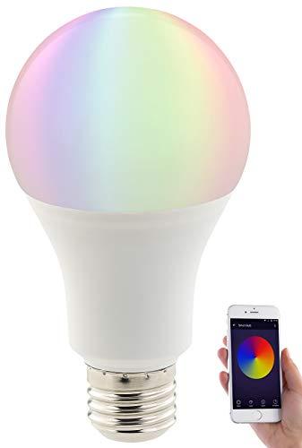 Luminea Home Control Alexa Glühbirne: WLAN-LED-Lampe, komp. mit Amazon Alexa & Google Assistant, E27, RGBW (WLAN Glühbirne Alexa)