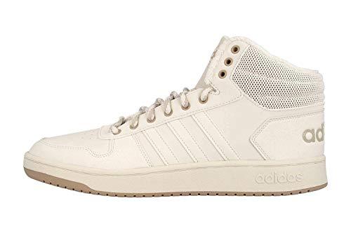 adidas Hoops 2.0 MID - Zapatillas de deporte en tallas grandes, color blanco, EE7372, color, talla 39.5 EU