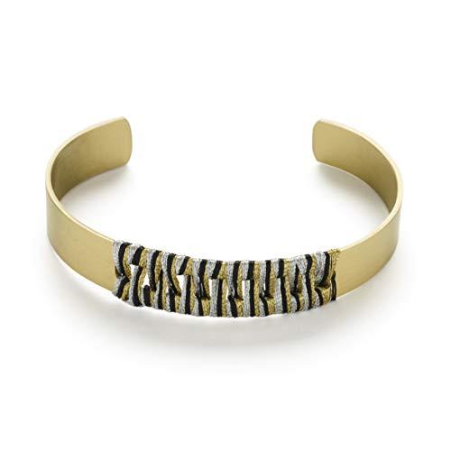 Handgefertigtes Neha Armband aus recyceltem Messing / nachhaltig / ethisch / stärkend / Frauen / Geschenk / mutig
