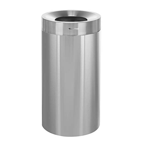 Alpine Industries 27 Gallon Heavy Duty Indoor Trash Can  Corrosion Proof Stainless Steel Garbage Bin  Heavy Duty Waste Disposal Trashcan for Litter Free Home Schools Hospitals and Businesses 27 gallon