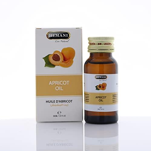 100% puro y natural ingredientes extractos esenciales de aceite de albaricoque Hemani 30ml vegano natural y libre de crueldad cosechado éticamente