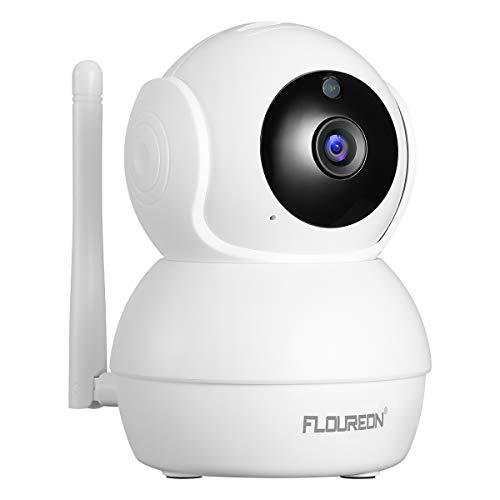 FLOUREON Caméra IP 1080P HD 2.0MP Caméras Dômes WiFi Pan/Tilt Détection de Mouvement Humain...