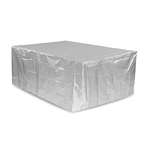ExcLent 269X180X89Cm Silver Furniture Waterproof Cover Retangle Outdoor Garden Table Chair Dust-Proof Cover