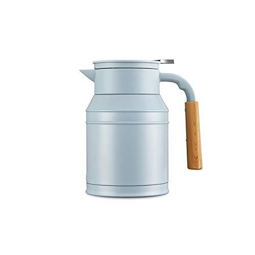 Cafetière en acier inoxydable de 1 litre/double bouteille sous vide/bouilloire bouilloire portable à la maison-blue