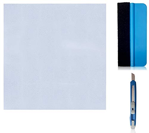 X-Solutions® Fensterfolie | Milchglasfolie | Sichtschutzfolie | Fenster Scheibenfolie Blickdicht | Anti-UV statische privatsphäre Schutzfolie | matt Frosted für Bad, Büro, Wohnzimmer | 90 x 200CM